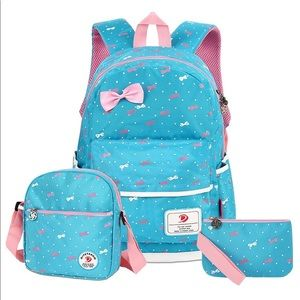 🎀Minnie Mouse 3pc backpack Bow set waterproof🎀